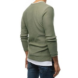 Khaki men's sweater WX1457