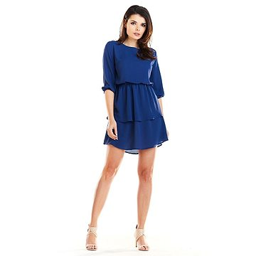 Awama Woman's Dress A258 Navy Blue