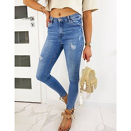 Women's skinny fit jeans SENIORES blue UY0478
