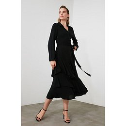 Trendyol Black BeltEd Frill dress
