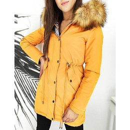 Women's double-sided parka RENEVI 2in1 yellow TY1465