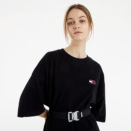 Tommy Jeans Oversized Badge Tee Dress Black L