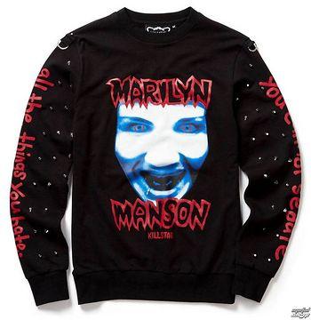 mikina (unisex) KILLSTAR - Marilyn Manson - All the Things You Hate - Black - K-SWS-U-2491