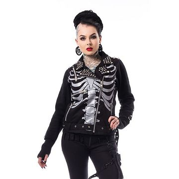 bunda dámska Heartless - JULIA JACKET - BLACK - POI600
