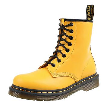 topánky DR.MARTENS - 8 dierkové - SMOOTH - YELLOW - DM24614700
