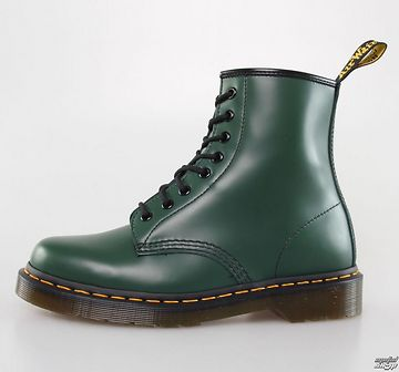 topánky DR. MARTENS - 8 dierkové - 1460 - GREEN SMOOTH