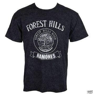 tričko pánske Ramones - Forest Hills - Black - ROCK OFF - RASWASH01MB