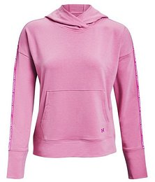 Under Armour UA Rival Terry Taped Hoodie-PNK M