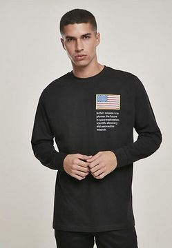 Mr. Tee NASA Worm Logo Longsleeve black - XL