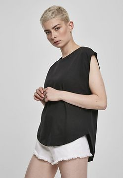 Urban Classics Ladies Basic Shaped Tee black - XXL