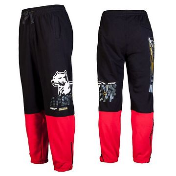 AMSTAFF KARPAN SWEATPANTS - BLACK/RED - XL / čierna