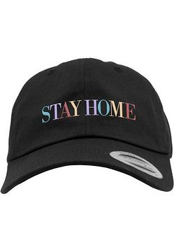 Mr. Tee Stay Home EMB Dad Cap black - Uni
