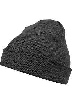 Master Dis Beanie Basic Flap h.charcoal - One Size