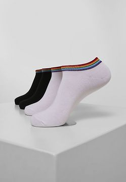 Urban Classics Rainbow Socks No Show 4-Pack black/white - 39-42
