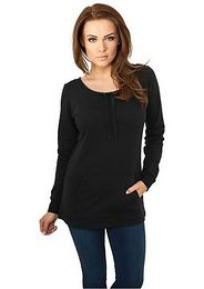 Urban Classics Ladies Wideneck Pocket Crew black - S
