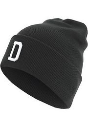 Master Dis Letter Cuff Knit Beanie D - One Size