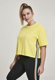 Urban Classics Ladies Multicolor Side Taped Tee brightyellow - 3XL