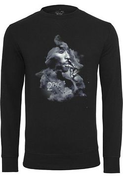 Mr. Tee Tupac Smoke Crewneck black - L