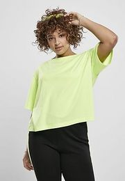 Urban Classics Ladies Short Oversized Neon Tee electriclime - XL