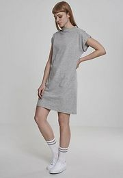 Urban Classics  Ladies Turtle Extended Shoulder Dress grey - 3XL