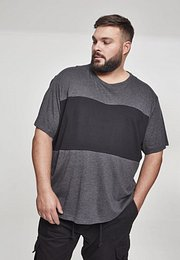 Urban Classics Contrast Panel Tee charcoal/black - XXL