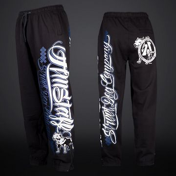 AMSTAFF ZERU SWEATPANTS - BLACK/BLUE - M / čierna