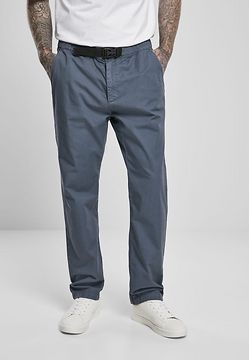 Urban Classics Straight Leg Chino with Belt vintageblue - M