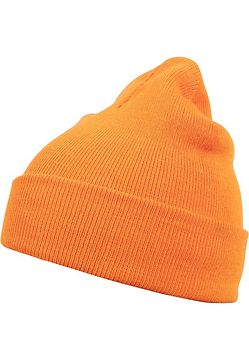 Master Dis Beanie Basic Flap neonorange - One Size