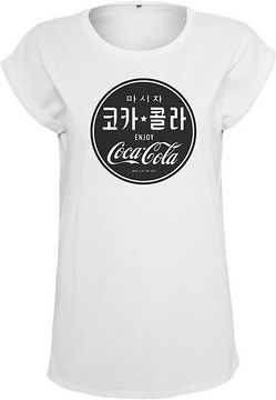 Mr. Tee Ladies Coca Cola Chinese Black Tee white - L