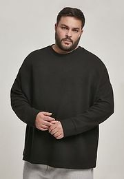 Urban Classics Cut On Sleeve Naps Interlock Crew black - XXL