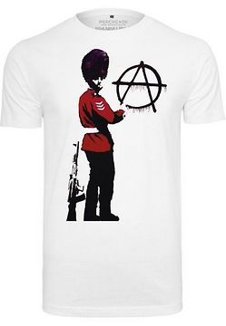 Mr. Tee Banksy Anarchy Tee white - L