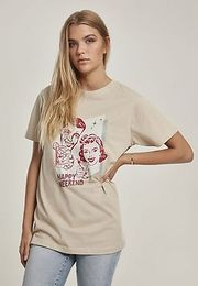 Mister Tee Ladies Happy Weekend Tee sand - XS