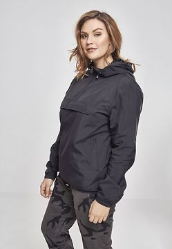 Urban Classics  Ladies Basic Pull Over Jacket black - S