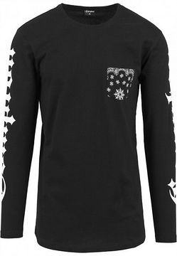 Mr. Tee Compton Pocket Bandana Longsleeve black - S
