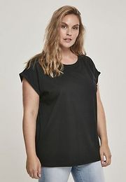Urban Classics Ladies Organic Extended Shoulder Tee black - S