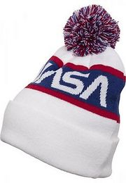 Mister Tee NASA Beanie Knitted wht/blue/red - One Size