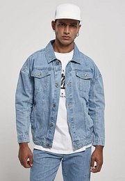 Southpole Script Denim Jacket mid blue - XL