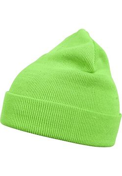 Master Dis Beanie Basic Flap neongreen - One Size