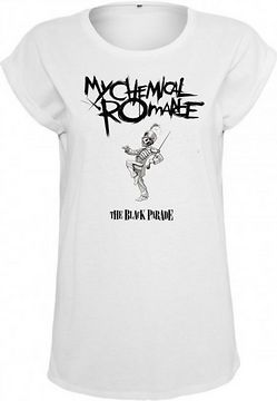 Mr. Tee Ladies My Chemical Romace Black Parade Cover Tee white - L