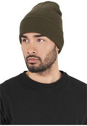 Urban Classics Heavyweight Long Beanie olive - One Size