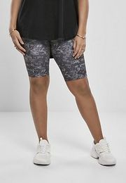 Urban Classics Ladies High Waist Camo Tech Cycle Shorts dark digital camo - 5XL