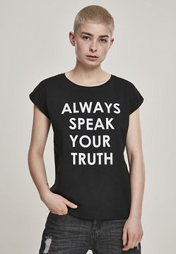 Mr. Tee Ladies Speak Truth Tee black - S