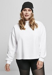Urban Classics Ladies Oversized High Neck Crew white - XL