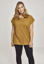 Urban Classics Ladies Extended Shoulder Tee nut - XXL