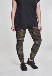 Urban Classics Ladies Camo Stripe Leggings wood camouflage/black - L