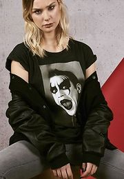 Mr. Tee Ladies Robbie Williams Clown Tee charcoal - L