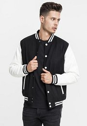 Urban Classics Oldschool College Jacket black/white - 4XL