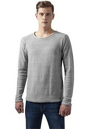 Urban Classics Fine Knit Melange Cotton Sweater grey melange - XL