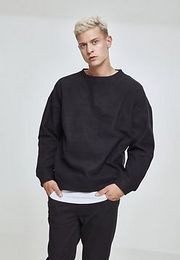 Urban Classics Polar Fleece Crew black - 5XL